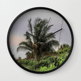 The Wild Palm Tree Wall Clock
