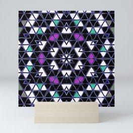 Brilliant Star Triangle Pattern Mini Art Print