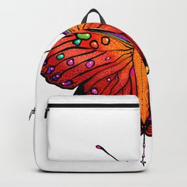 Red an Orange Butterfly Backpack