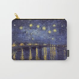 Vincent Van Gogh Starry Night Over The Rhone Carry-All Pouch