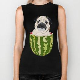 Pug Watermelon Biker Tank