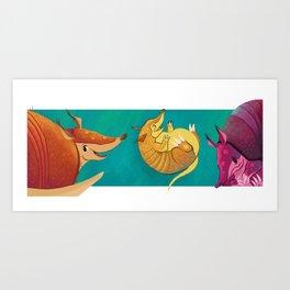 armadillos Art Print