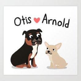 "Custom Artwork, ""Otis and Arnold"" Art Print"