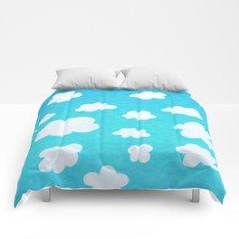 Happy Little Clouds Comforters
