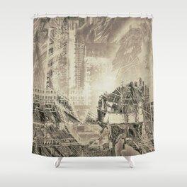 Darkania city Shower Curtain