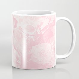 Vintage blush pink baby yellow roses flowers Coffee Mug
