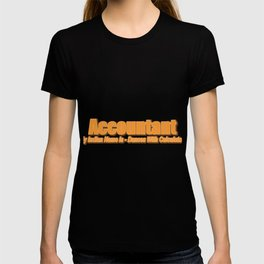 Accountant Dances With The Calculator Gift T-shirt