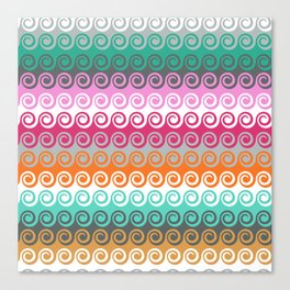 Waves colorful pattern Canvas Print