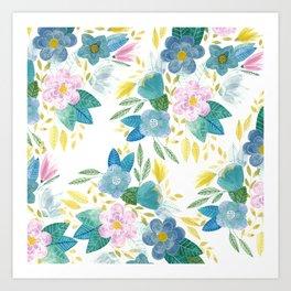 Soft Flowals Art Print