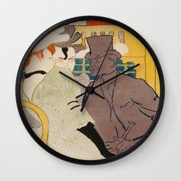 Vintage poster - Englishman at the Club Wall Clock
