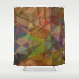 Technical Geomeric Construction Shower Curtain