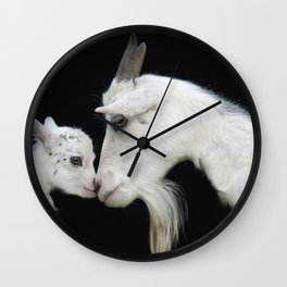 Baby and mother. Wall Clock