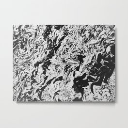 B.W. Marblanite Metal Print