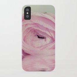 Ranunculus mirrored iPhone Case