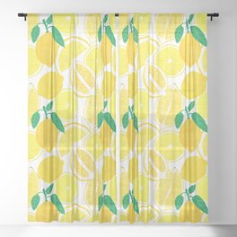 Lemon Harvest Sheer Curtain