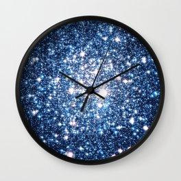 Galaxy Stars: Riverside Blue Wall Clock
