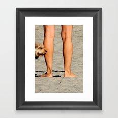 Touching Base Framed Art Print