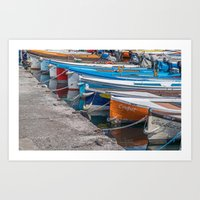 boats Art Prints featuring Boats by Travelling Dave