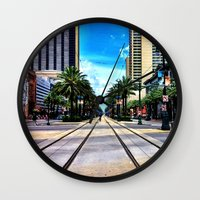 new orleans Wall Clocks featuring New Orleans by Resistance