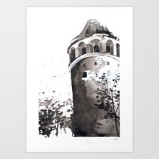 Galata tower Art Print