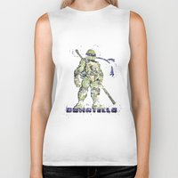 teenage mutant ninja turtles Biker Tanks featuring Donatello, Teenage Mutant Ninja Turtles by Carma Zoe