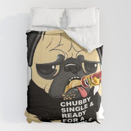 Pug Ready for a Pringle Comforters