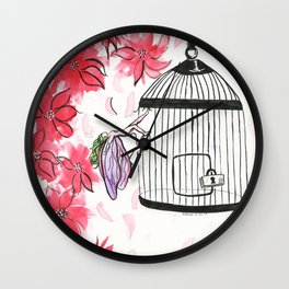 Can't cage magic Wall Clock