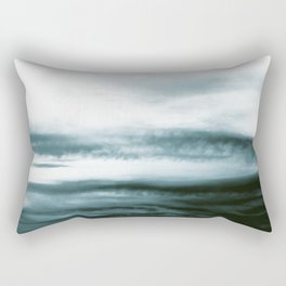WHITE & BLUE & BLACK TOUCHING #3 #abstract #decor #art #society6 Rectangular Pillow