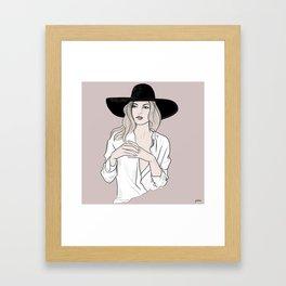 Fashion icon - Kate Moss inspired illustration Framed Art Print