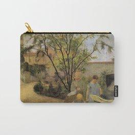 La famille du peintre au jardin, rue Carcel - Paul Gauguin (1881) Carry-All Pouch