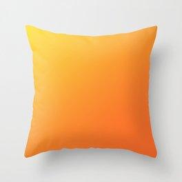 Yellow and Orange Gradient Throw Pillow