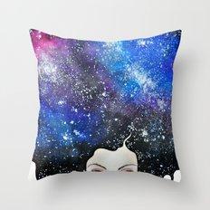 cosmic petals Throw Pillow