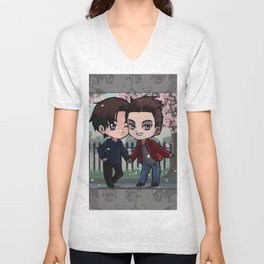 Malec ( Magnus Bane and Alec Lightwood ) Unisex V-Neck