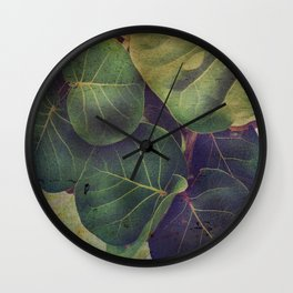 Sea Grape Wall Clock