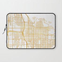 SALT LAKE CITY UTAH CITY STREET MAP ART Laptop Sleeve