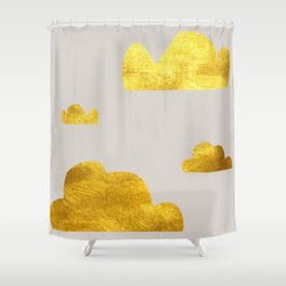 Gold Clouds Shower Curtain