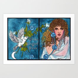 White Winged Dove Art Print