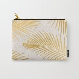 Metallic Gold Tropical Palm Fronds Carry-All Pouch