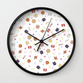 sailor moon pattern Wall Clock