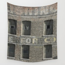 Chicago Windows, Old Building in Chicago Wall Tapestry