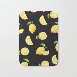 Lemons on Black Bath Mat