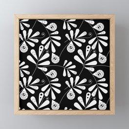 White Beauty on Black #society6 #buyart #decor Framed Mini Art Print