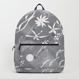 Flower ornament. Backpack