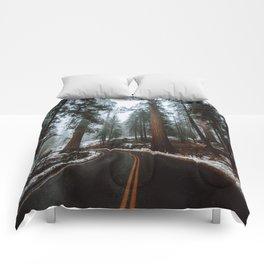 Foggy Forest Wanderlust Comforters