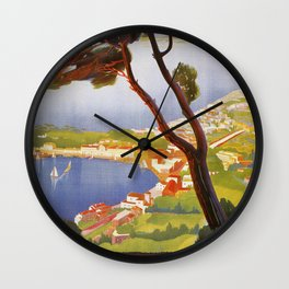 Ischia Island Italy summer travel ad Wall Clock