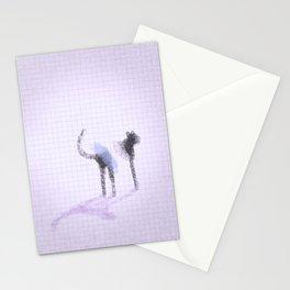 3 legged cat Stationery Cards