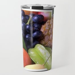 Modern Fruit Basket Still Life Travel Mug