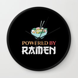 Japanese Food Powered by Ramen Gift Wall Clock
