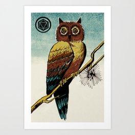 Slice & Dice - Owl Art Print