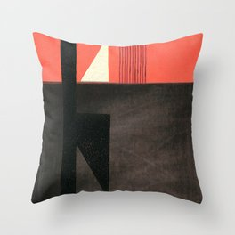 Solitaire du Figaro (red) Throw Pillow